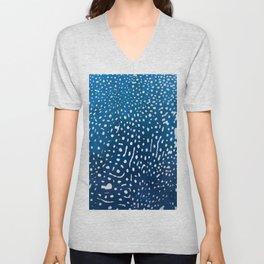 Whale shark skin. Unisex V-Neck