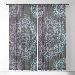 Mandalas Pattern (Black) Sheer Curtain