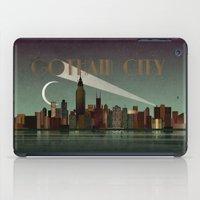 gotham iPad Cases featuring Gotham City by WyattDesign