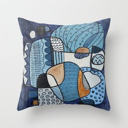 Scratched Below the Surface Throw Pillow