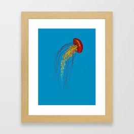 Stitches: Jellyfish Framed Art Print