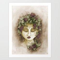 Vineyard Nymph Art Print