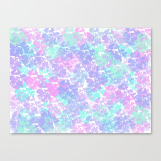 Soft Painterly Fluffy Pastel Abstract Canvas Print