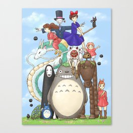 Ghibli mashup Canvas Print
