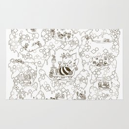 a swarm of bees (벌떼방클럽) Rug