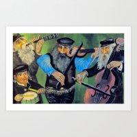 jewish Art Prints featuring Jewish klezmer by Mimi Eskenazi