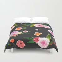goth Duvet Covers featuring Floral Goth by MY  HOME