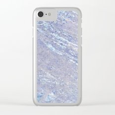 Marble Pattern - Ocean Blue Marble Clear iPhone Case
