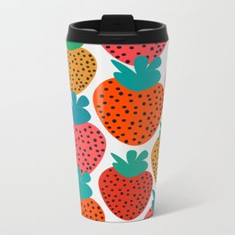 Funny strawberries Metal Travel Mug