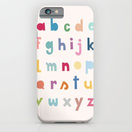 ABC alphabet art iPhone Case