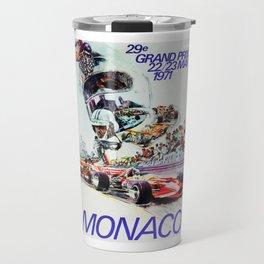 Gran Prix de Monaco, 1971, original vintage poster Travel Mug