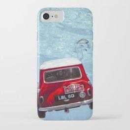 deep water swimming mini #1 iPhone Case