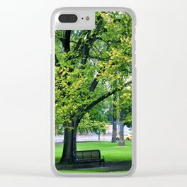 A Little Town Square, Melbourne Clear iPhone Case