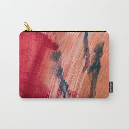 Blushing [2]: a vibrant, minimal abstract in pink, red, and blue details Carry-All Pouch
