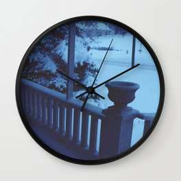 porch snow. Wall Clock