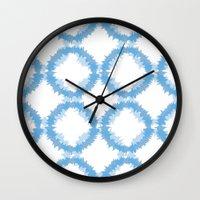 ikat Wall Clocks featuring ikat by Kozza