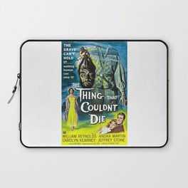 The Thing That Couldn't Die - Vintage Horror Movie Poster Laptop Sleeve