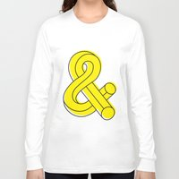 ampersand Long Sleeve T-shirts featuring Ampersand by MADEYOUL__K
