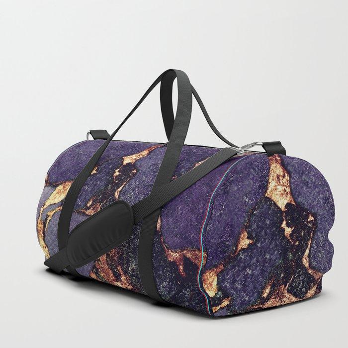 GEMSTONE & GOLD PURPLE ULTRA VIOLET Duffle Bag