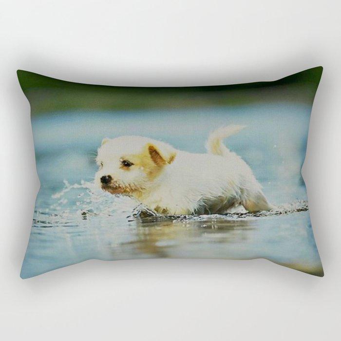 Splish - Splash, puddles are fun Rectangular Pillow