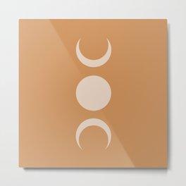 Moon Minimalism - Desert Sand Metal Print