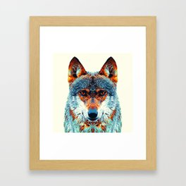 Wolf - Colorful Animals Framed Art Print
