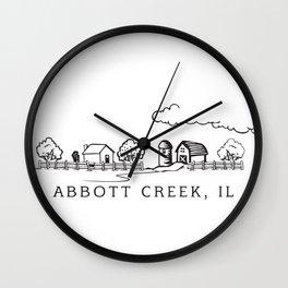 Abbott Creek IL Wall Clock