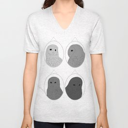 The wall of one conceited owl Unisex V-Neck
