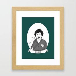 Julia Child Illustrated Portrait Framed Art Print