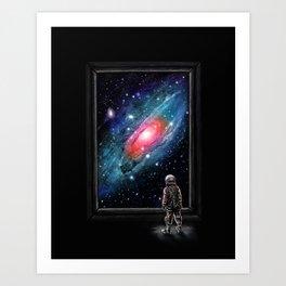 Looking Through a Masterpiece Art Print