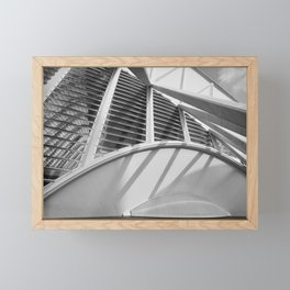 City of Arts and Sciences IV by CALATRAVA architect Framed Mini Art Print
