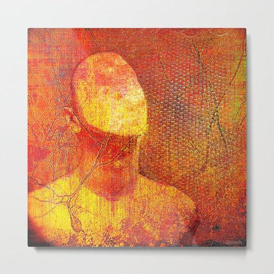 The faceless man Metal Print