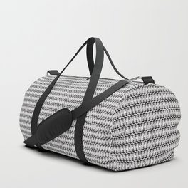 Guitars (Tiny Repeating Pattern on White) Duffle Bag