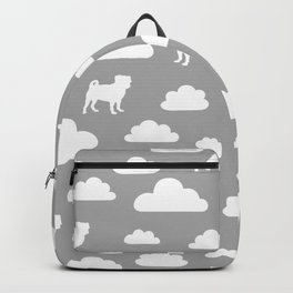 Pug Clouds - Grey Backpack