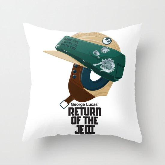 Full Metal Jedi - Vintage Version Throw Pillow