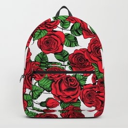 Red roses pattern Backpack
