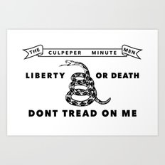 Historic Culpeper Minutemen flag Art Print