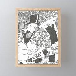 Posting A Letter Framed Mini Art Print