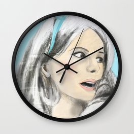 The Umbrellas of Cherbourg colour by 9IIRLUSTRATION Wall Clock