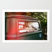 vw bus Art Prints featuring vw bus by MacKenna Carney