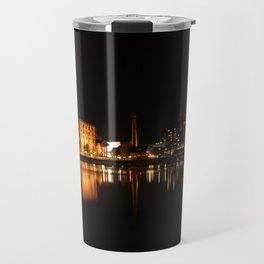 Liverpool At Night - The Salthouse Dock Travel Mug