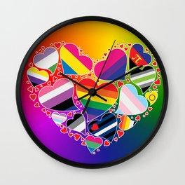 LGBTQA+ Community Pride Heart Wall Clock