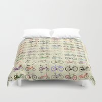 bikes Duvet Covers featuring Bikes by Wyatt Design