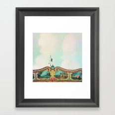 Summer Carousel Framed Art Print