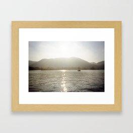 Como Glow Framed Art Print