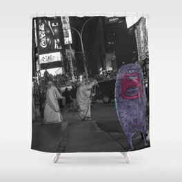 Unseen Monsters of New York - Guffaw Kismet Shower Curtain