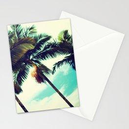 Vintage Hawaiian Palm Trees Stationery Cards