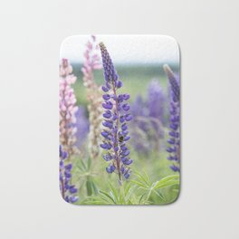 Colorful lupines Bath Mat