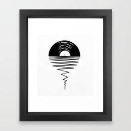 Record Sunsets Framed Art Print