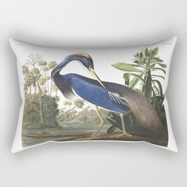 Louisiana heron, Birds of America, Audubon Plate 217 Rectangular Pillow